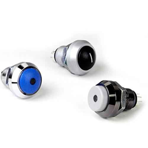 12mm防水按钮开关 金属 带灯
