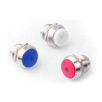 16mm A300 series metal waterproof button switch with lamp